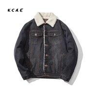 2016 New Winter Plus Thick Denim Men S Jacket Velvet Collar Slim Men S Denim Jacket