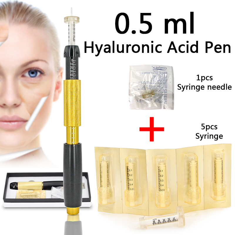 Nouveau 0.5ml lèvre injection Hyaluronique stylo 3 vitesses pression ajuster pour lèvres remplissage supprimer rides acide Hyaluronique stylo atomiseur pistolet