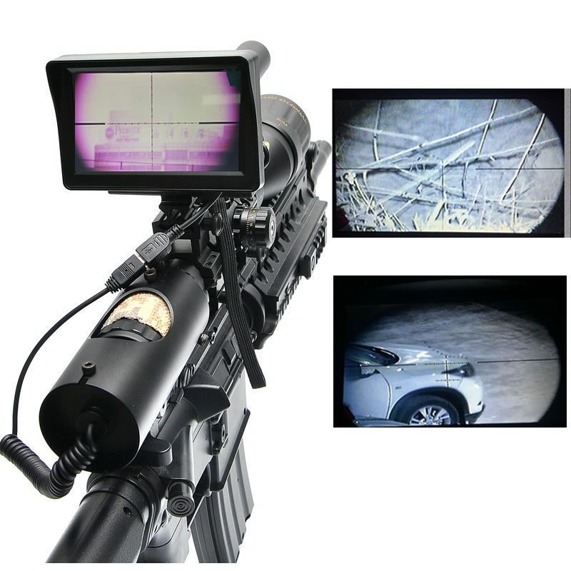 Tactical Digital Infrared Night Vision Riflescope With Battery Charger LCD and IR Flashlight Optical Sights Hunting