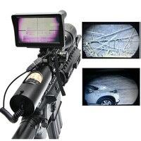 Тактический Цифровой Инфракрасный ночное видение прицел с батарея зарядное устройство ЖК дисплей и ИК фонарик оптические прицелы Охота об
