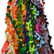 5 ярдов Pom кружевная бейка мяч мм 10 мм Мини жемчуг помпон бахрома ленты Вышивание кружево вязаная ткань ручной работы Craft интимные аксессуары