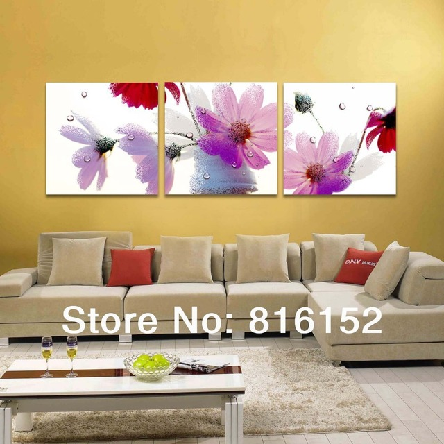 Quiet Colors Dewy Flower Fine Paintings Nice Decoration for Living ...