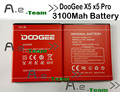 100% NEW DOOGEE X5S Battery 3100mAh Replacement accessory accumulators For DOOGEE X5 Pro / x5 smart  Phone + in stock