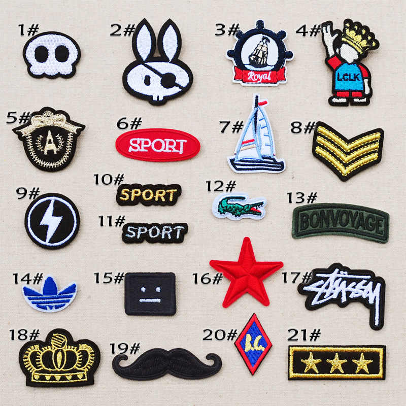 Small size cloth patch children's denim clothes embroidery decorative patch decals mini stickers badge Hand sewing sew on patch