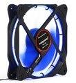LED 120mm 4Pin Fan With De-vibration Rubber,1600RPM,60CFM,Low Noise & Big Airflow PC Computer Case Cooler Cool PWM Fan