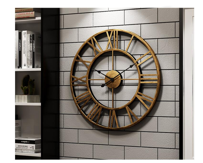 New 40 Cm Modern 3D Large Retro Black Iron Art Hollow Wall