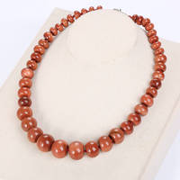 Natural Red Necklace Beads Chain Crystal Classic Exquisite Fine Jewelry Bag Stone Gold Necklace Men Women