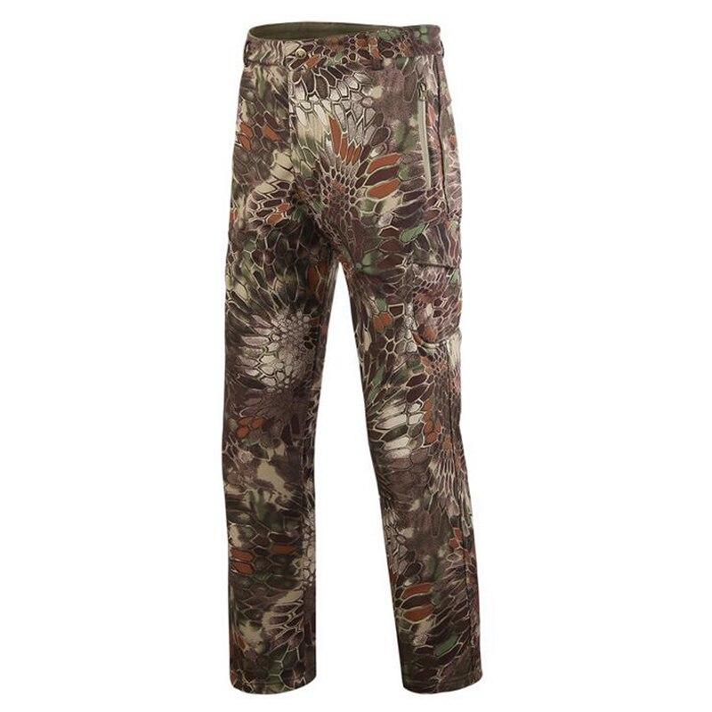 Pantalon de randonnée en plein air pantalon de Camouflage d'escalade d'hiver chasse hommes pantalon militaire militaire épais Trekking Camping pantalon