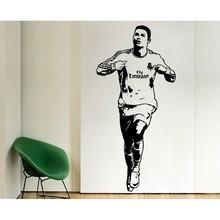 New arrival Free Shipping Home Decor Sports footballer wall stickers PVC Vinyl Art Mural Football Cristiano Ronaldo