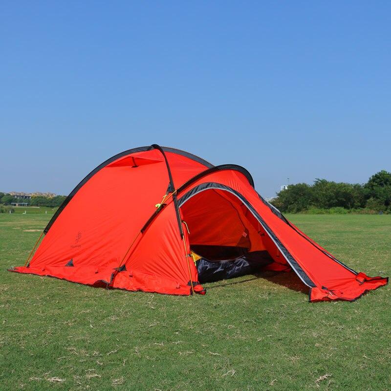 Tente en nylon de fibre de silicone de 20D 4 tentes de camping de la saison 2-3 personnes tente ultra-légère pour la tente d'hiver de basse température de haute altitude