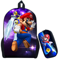 Super Mario 2 Printing Backpack Children Cartoon Sonic Backpacks Boys Girls School Bags For Kindergarten Daily Backpack Book Bag