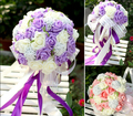 Beautiful Handmade Flowers Decorative Artificial Rose Flowers Pearls Bride Bridal Lace Accents Wedding Bouquets Holding flowers