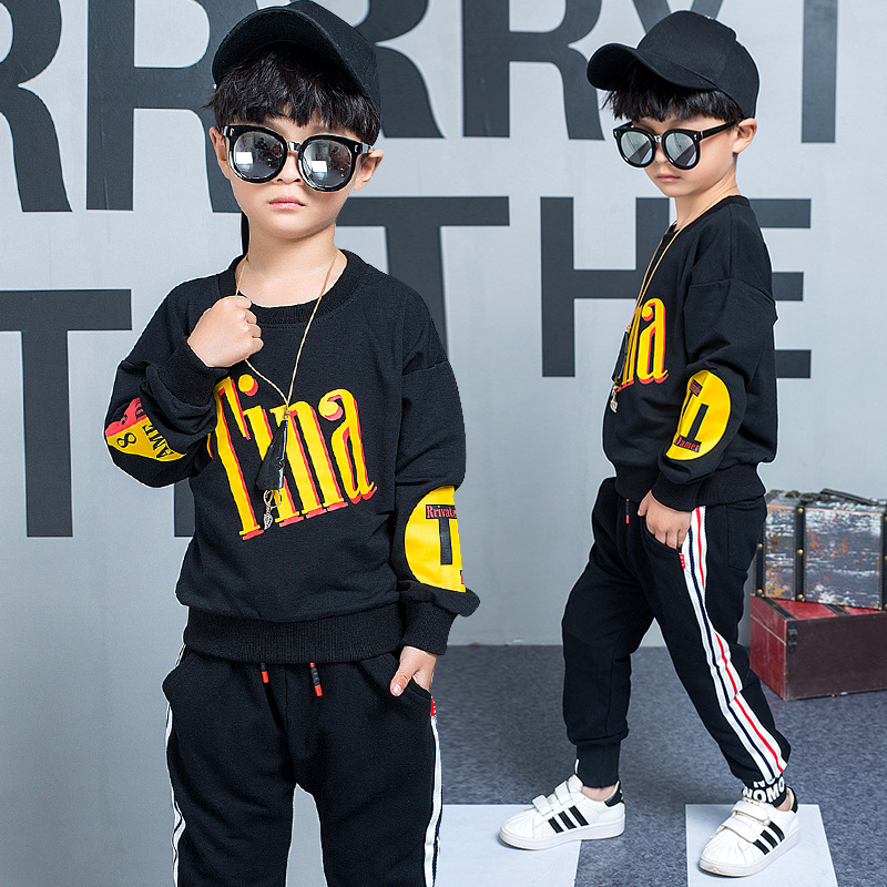 2018 Spring Autumn Korean Kids Clothes Boys Long Sleeves Children Clothing Sets Boys Clothes Baby Sport Boys Clothing Sets Suits lovely spring new year cotton long sleeves baby kids children suits boys pajamas christmas girls clothing sets clothes