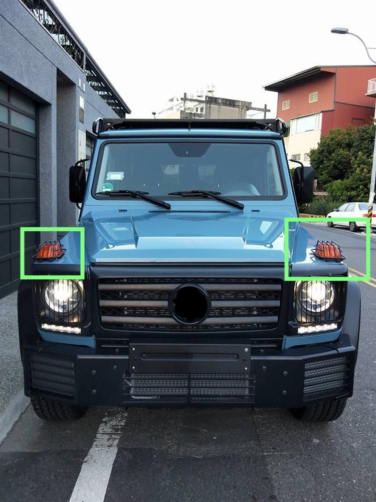 G glass w463 tail lights covers fit for W463 all style fit for G-class W463 G500 G55 G63 tail lamp cover (6)