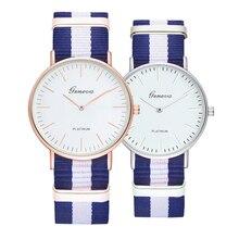 Fashion Classic Canvas Nylon Metal Strap Buckle Casual Watch Men Simple 18 Color Clock Quartz Couple Wrist Watches Women Relogio