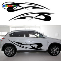 HotMeiNi 2X Choppy Wind Whistling Tenaciously Theme Abstract JDM Stripe Car Sticker Car Styling Accessories Vinyl Decal 13 Color