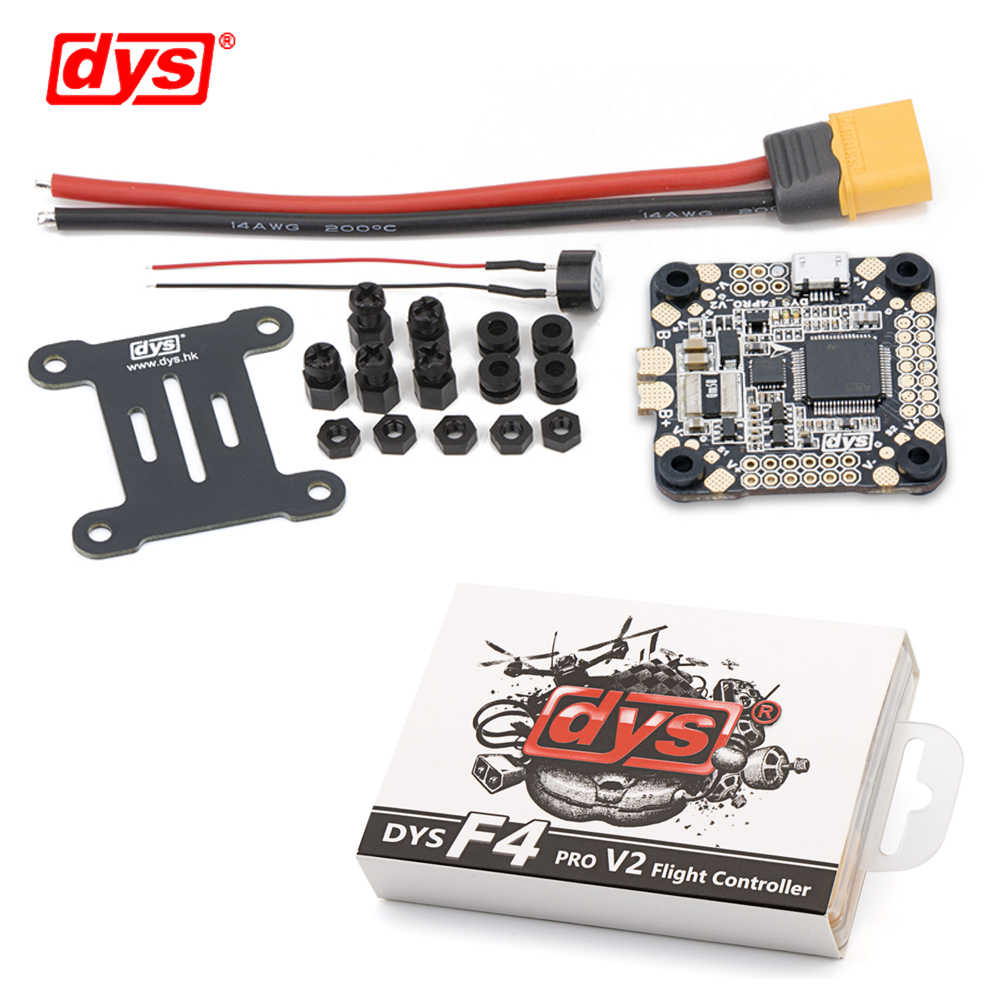 DYS flight control F4 PRO V2 Betaflight with 5V/3A 9V/1 2A BEC intergrated  protection circuit on-board OSD flat cable connection