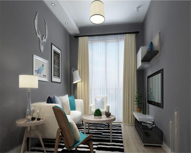 Beibehang moderne eenvoudige grijs behang studio coffeeshop