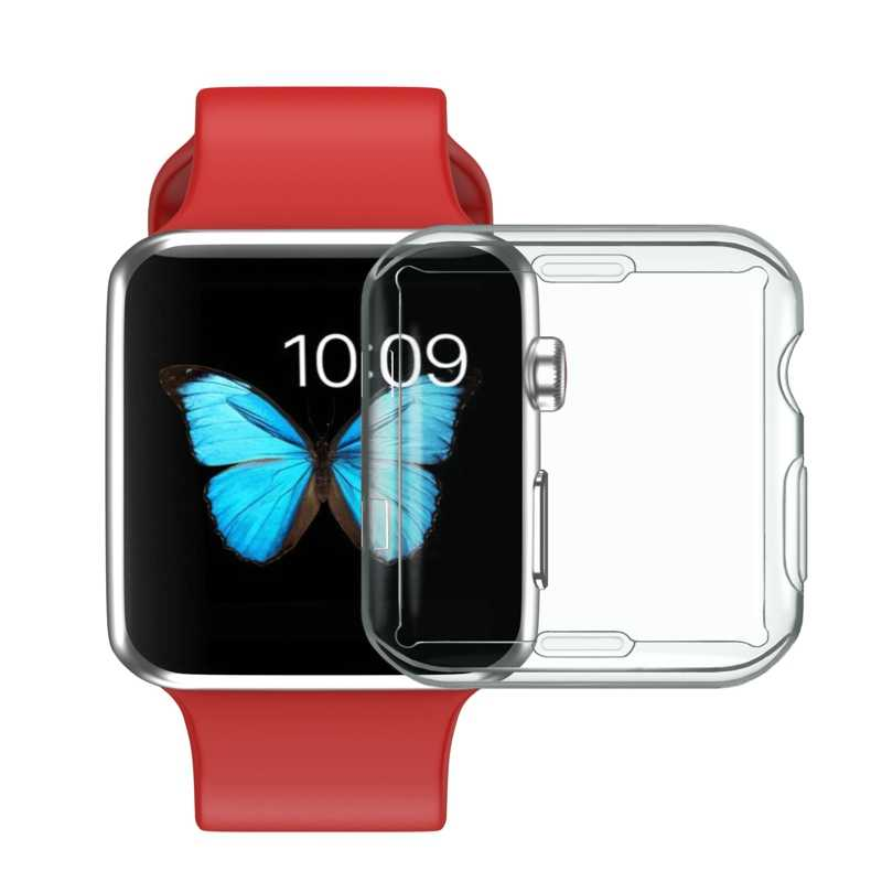 2018 Dehyaton TPU Screen Protector Case Cover Skin Shell voor Apple horloge voor iwatch wach Serie 2 3 II 38mm 42mm Clear