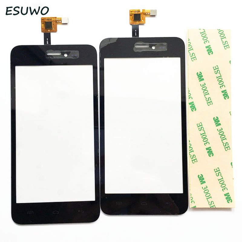 ESUWO 1 PC Black Color Touch Screen Digitizer For Explay Craft Touch Sreen Sensor Front Glass