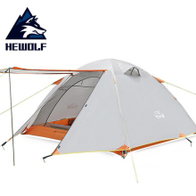 Hewolf Hiking Waterproof Tent 3 People Ultralight Double Layer Hiking 4 Season Fishing Outdoor Camping Tent Family Aluminum Pole цены