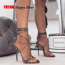 Летние туфли; женская обувь на высоком каблуке; пикантные женские туфли в римском стиле на очень высоком каблуке; Брендовые женские туфли-лодочки для ночного клуба; женская обувь для вечеринок; YX662