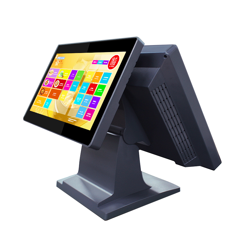 15 inch Intelligent Android 4.4 Two Screen Touch Pos System All in one PC