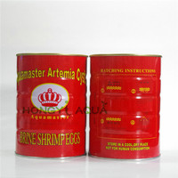 Free shipping granules 425g artemia shrimp eggs fish and shrimp feed high hatching rate big red eggs can hatch
