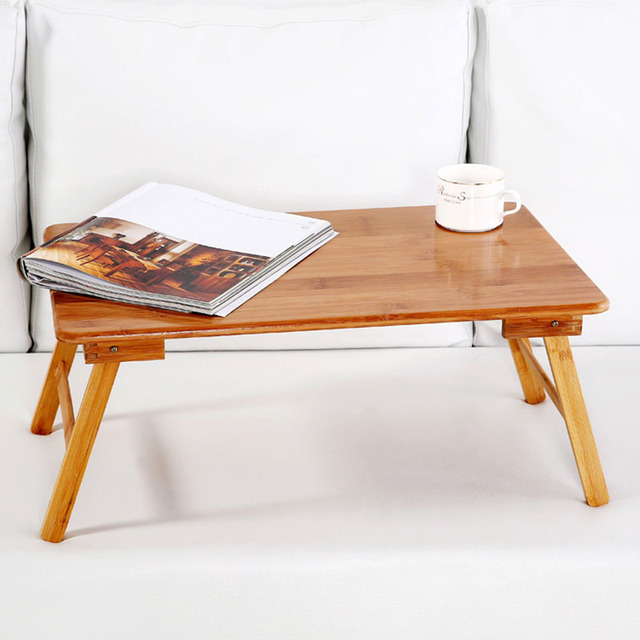 Foldable Portable Bamboo Computer Stand Laptop Desk Notebook Desk Laptop Table For Bed Sofa Bed Tray Studying Tables 1