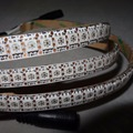 2 meters long 144pcs SK9822 addressable led pixel strip144pixels/m;WHITE PCB;waterproof in silicon coating;IP65