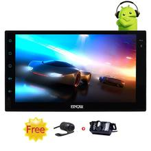 Android 6.0 Car Stereo Full Touchscreen in console 2din Autoradio GPS Navigation Headunit support WIFI 4G/3G+Front&Backup Camera