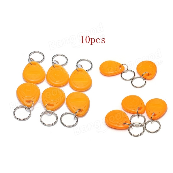 10 pieces RFID Writable and Readable Cards Proximity Key Fobs Set