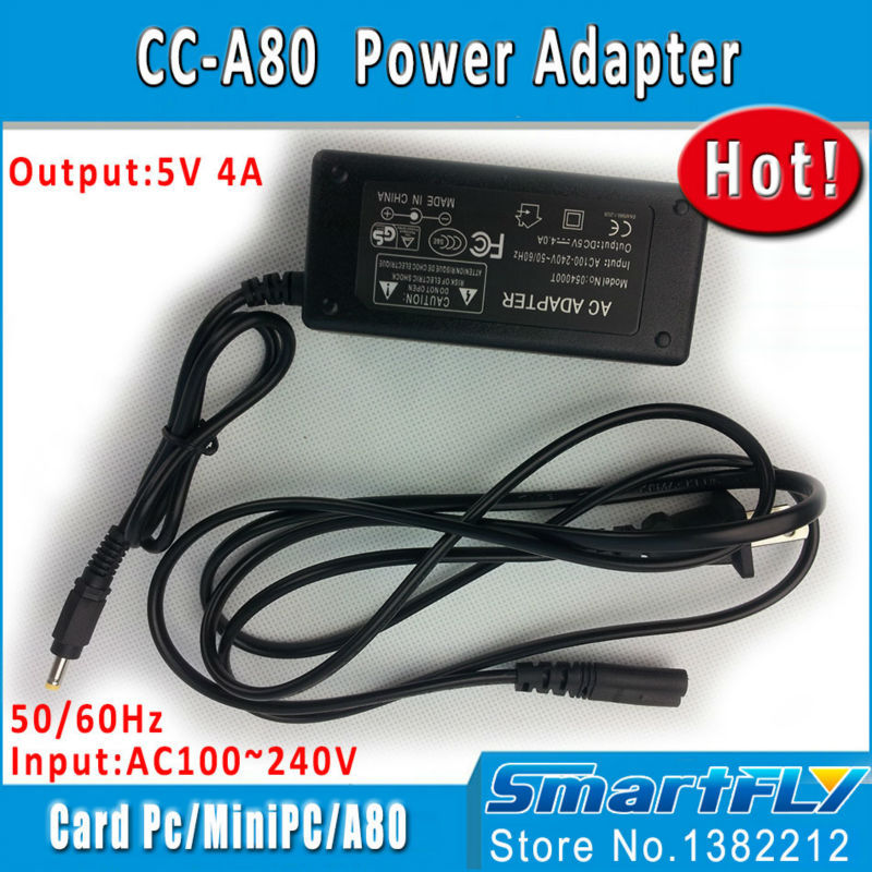 Free Shipping!  Power Adapter(5V 4A) For Cubieboard4 CC-A80 Development Board Supporting Cubieboard