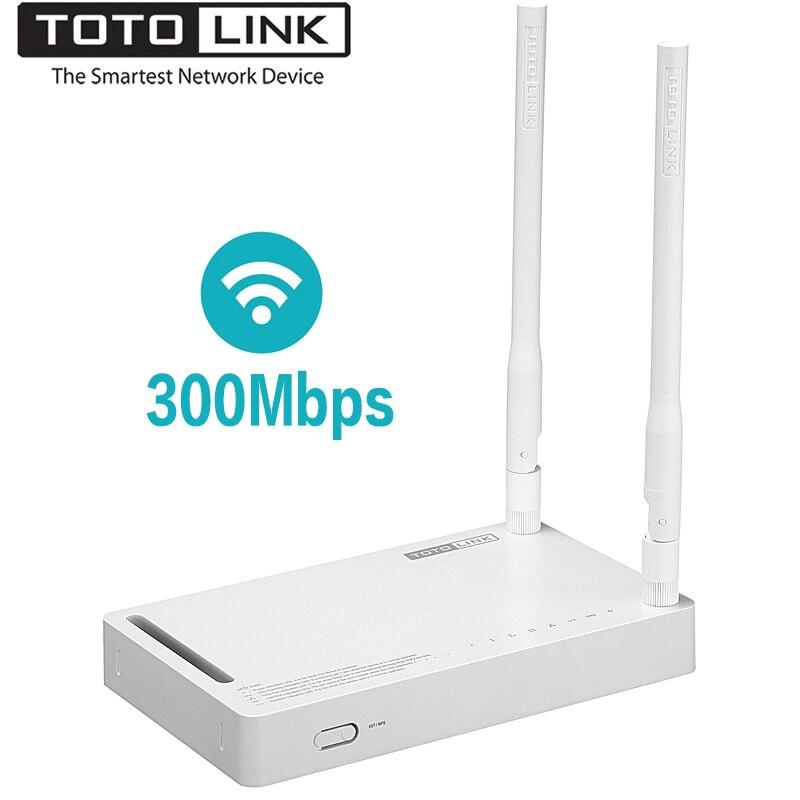 TOTOLINK N300RH 300 Mbps Longue Portée Sans Fil Routeur avec 2 * 11dBi Forte Signal Antennes 2.4 GHz Wi-Fi Répéteur, anglais Firmware