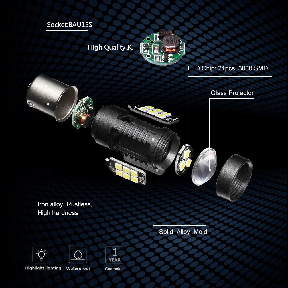 Светодиодные автомобильные фары BA15S (1156) 2шт
