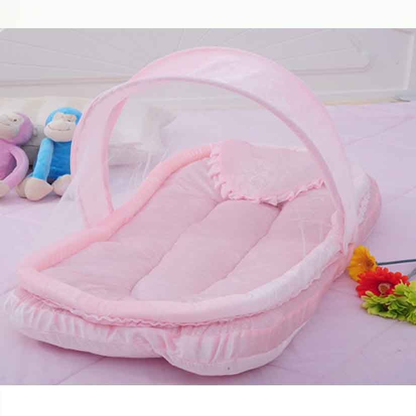 Little Baby Mosquito Net Babies Bed Canopy Infants Bebe Mosquito Nets Foldable Portable Cotton-padded Mattress Pillow Tent baby bed curtain kamimi children room decoration crib netting baby tent cotton hung dome baby mosquito net photography props