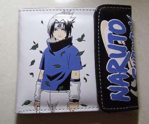 PU Short Wallet With Colorful Printing Of Anime NARUTO Uchiha Sasuke