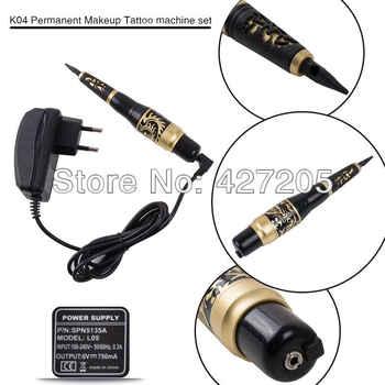 CHUSE Permanent Makeup Eyebrow Rotary Tattoo Machine K04 Microblading Pen Kit EU or US Plugs