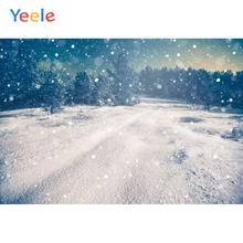 Yeele Winter Landscape Photocall Snow Decor Painting Photography Backdrop Personalized Photographic Backgrounds For Photo Studio