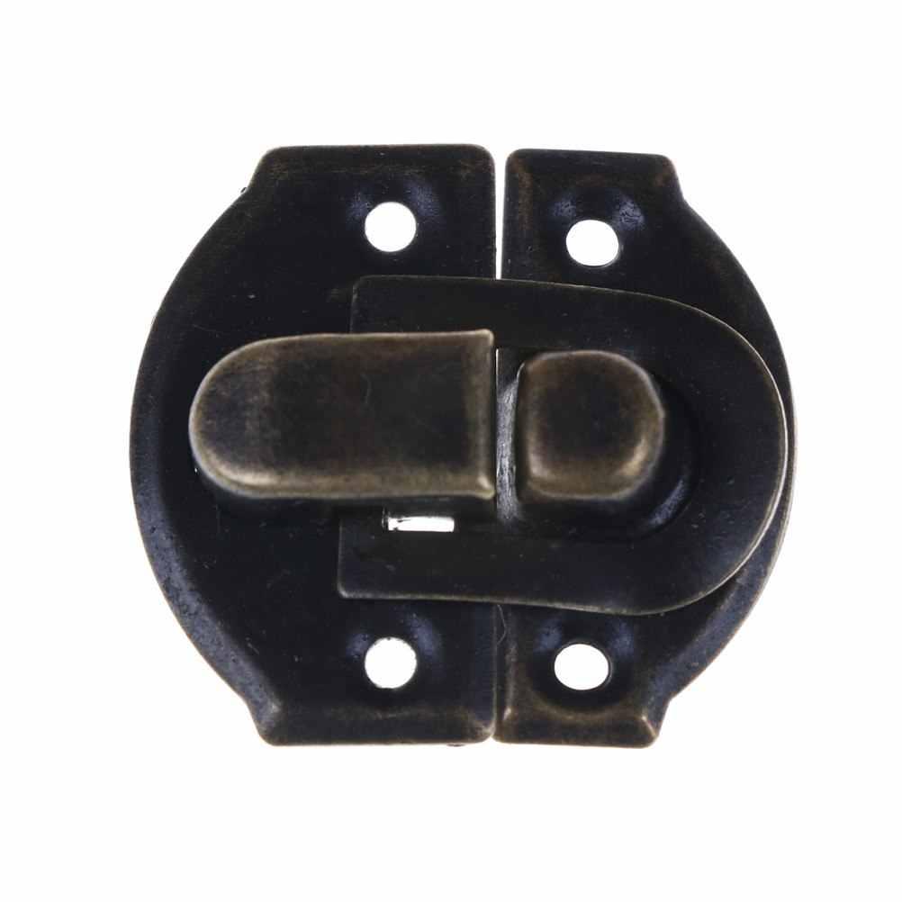 Bijoux coffre boîte valise boîte malle boucles à bascule moraillon loquet attraper fermoir 26X29 MM Bronze or 4 pcs/lot