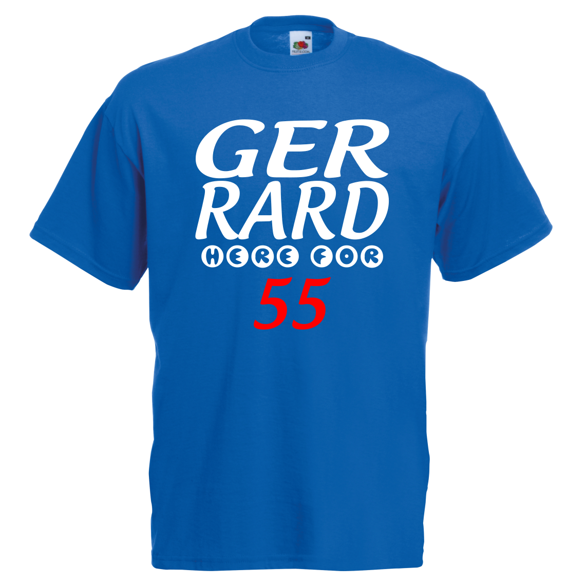 Steven Gerrard Going Here for <font><b>55</b></font> <font><b>T</b></font>-Shirt Glasgow Rangers GERS RFC Football Cool Casual pride <font><b>t</b></font> shirt men Unisex New Fashion image