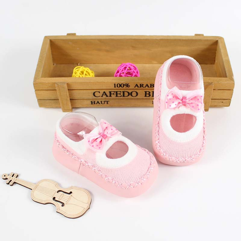 Baby-First-Walkers-socks-Anti-Slip-Newborn-0-12M-Cotton-Lovely-Cute-Shoes-bow-Cartoon-Slippers-Boots-Boy-Girl-Skid-Socks-3