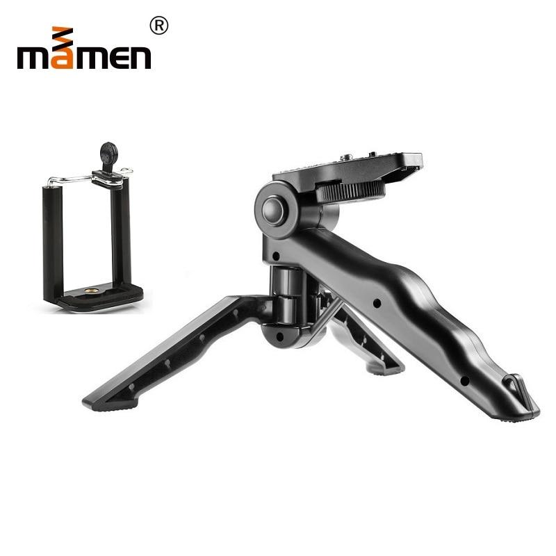 Mamen Phone Tripod Selfie Stick Bracket Mini Mount Monopod Stabilizer Camera Stand with Clip For Nikon
