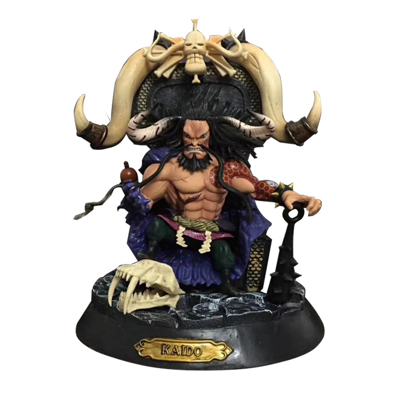 NEW hot 24cm One Piece Four Emperors Kaido Action figure toys doll collection Christmas gift no box