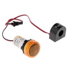 Digital Voltmeter Ammeter 22mm Round AC 50-500V 0-100A Voltage Volt Amp Monitor