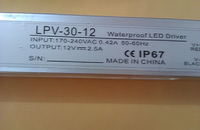 Waterproof IP67 30w High Power 2 5A 12V DC Constant Voltage Led Driver Transformer 1pcs Resell