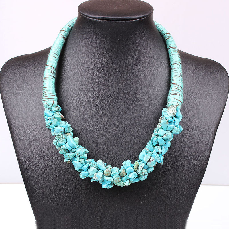 Buy fashion jewelry dubai boho turquoise for Turquoise colored fashion jewelry