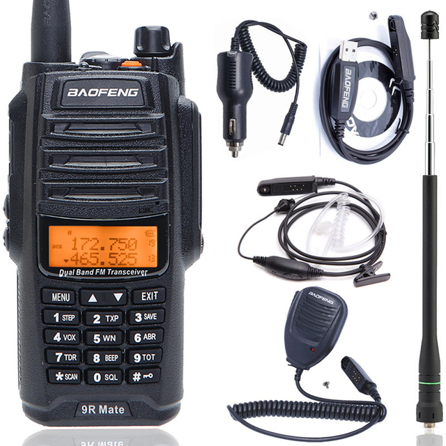 UV 9R زميله ترقية Baofeng UV 9R IP67 للماء الأشعة فوق البنفسجية المزدوج الفرقة 136 174/400 520 MHz هام Baofeng 10 W radio10 KM UV 9R combinatio