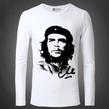 Neue Che Guevara Männer T Shirts Sehnsucht Argentinien Rot Kämpfer Geist Führer Zeit Magazin Menschen Engen langärmelige Männliche T-Shirt