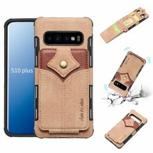 NEW Canvas Silicon Phone Case For Samsung S8 S10 Plus S10e Note 8 n9 Fabric Cloth Soft Card slot holder Mobile Bags